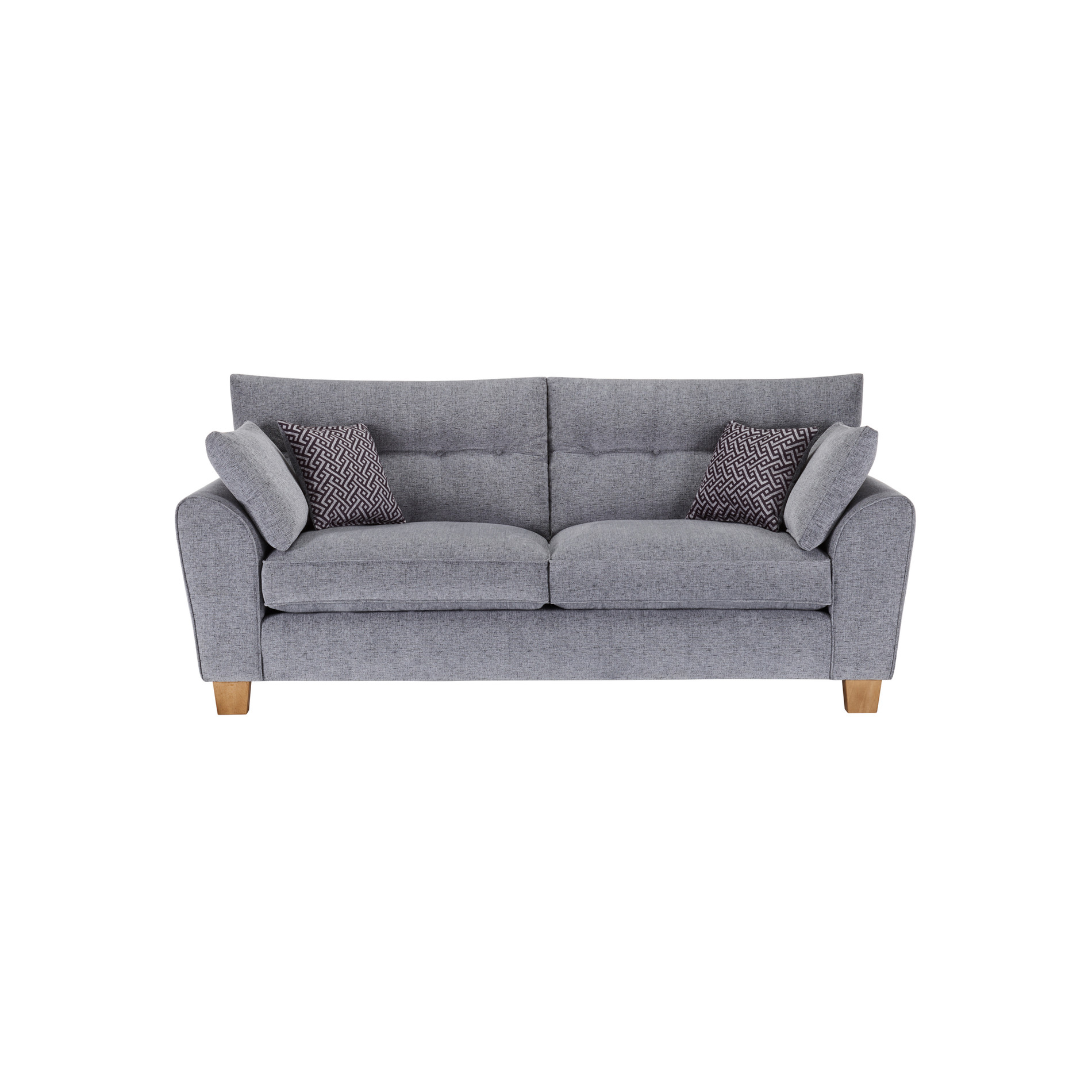 Brooke 3 Seater Sofa in Grey Grey Scatters