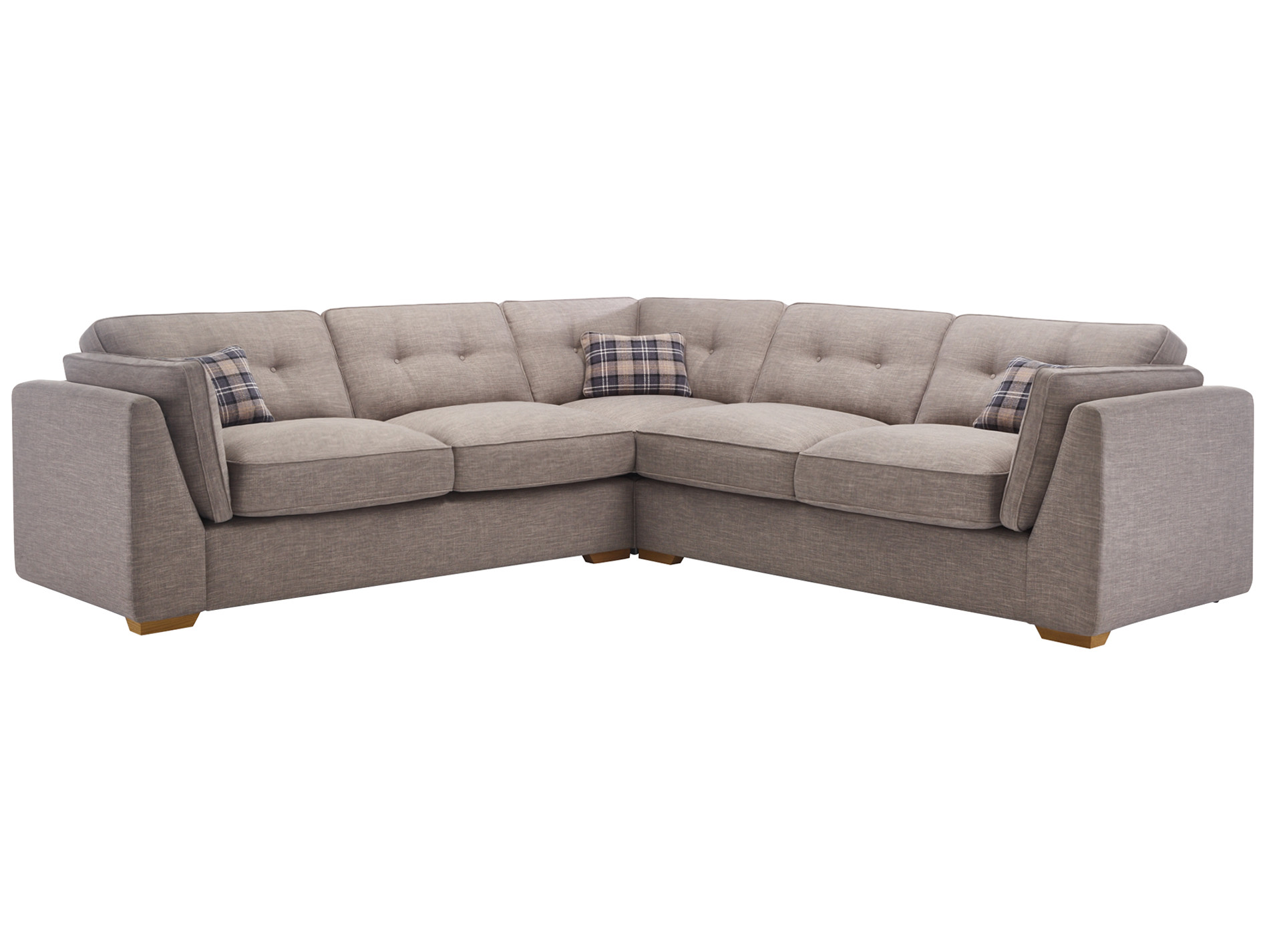 California 4 Seater High Back Corner Sofa Civic Smoke
