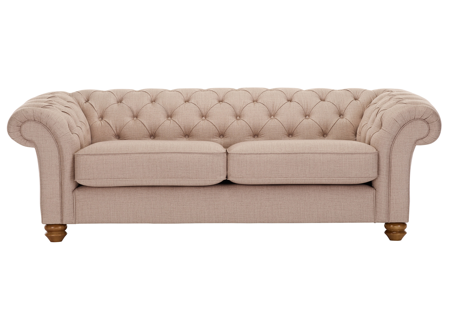 Chesterfield 3 Seater Sofa in Orchid Beige