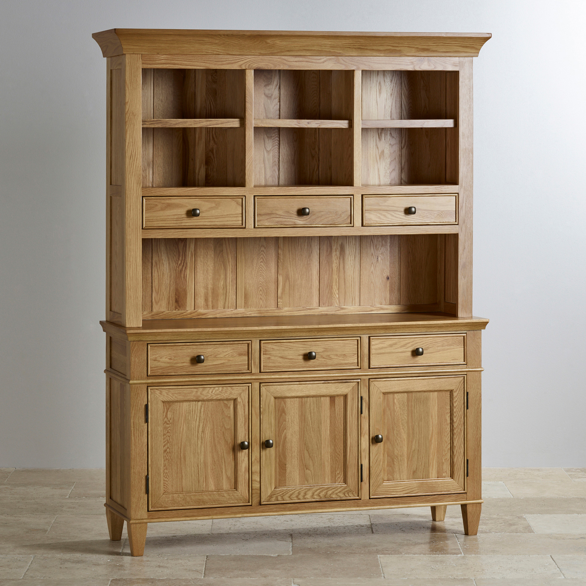 Classic Large Dresser In Natural Solid Oak Oak Furniture