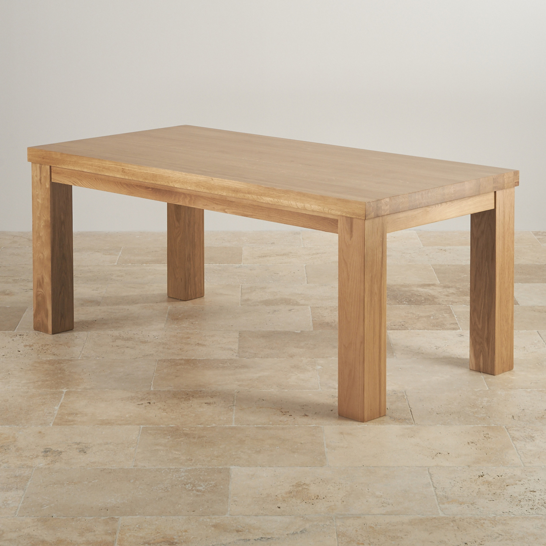Contemporary Chunky 6ft Dining Table In Natural Oak