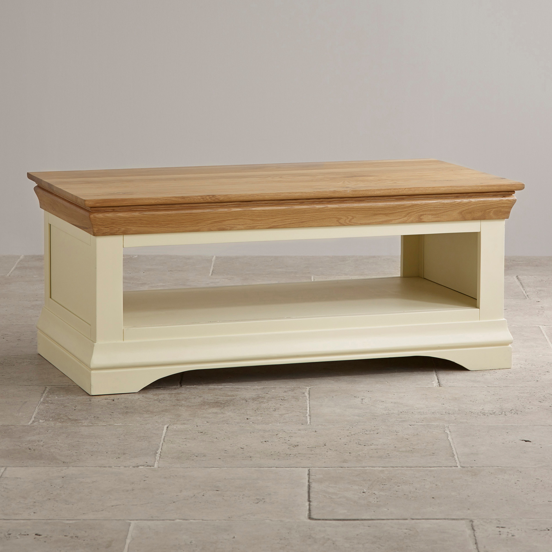 Country Cottage Coffee Table in Painted Oak Oak Furniture Land
