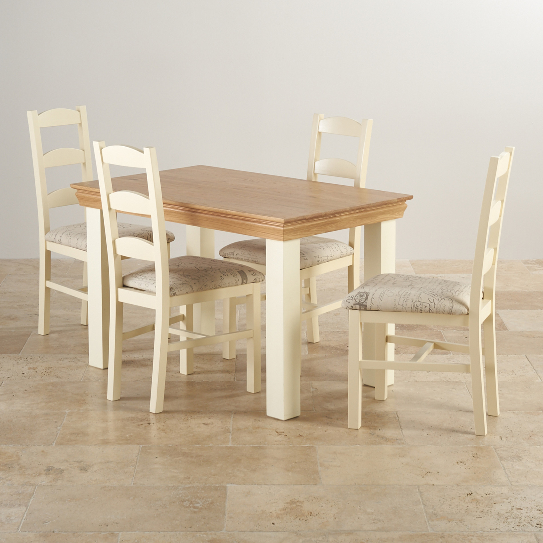 Country Cottage Dining Set In Painted Oak