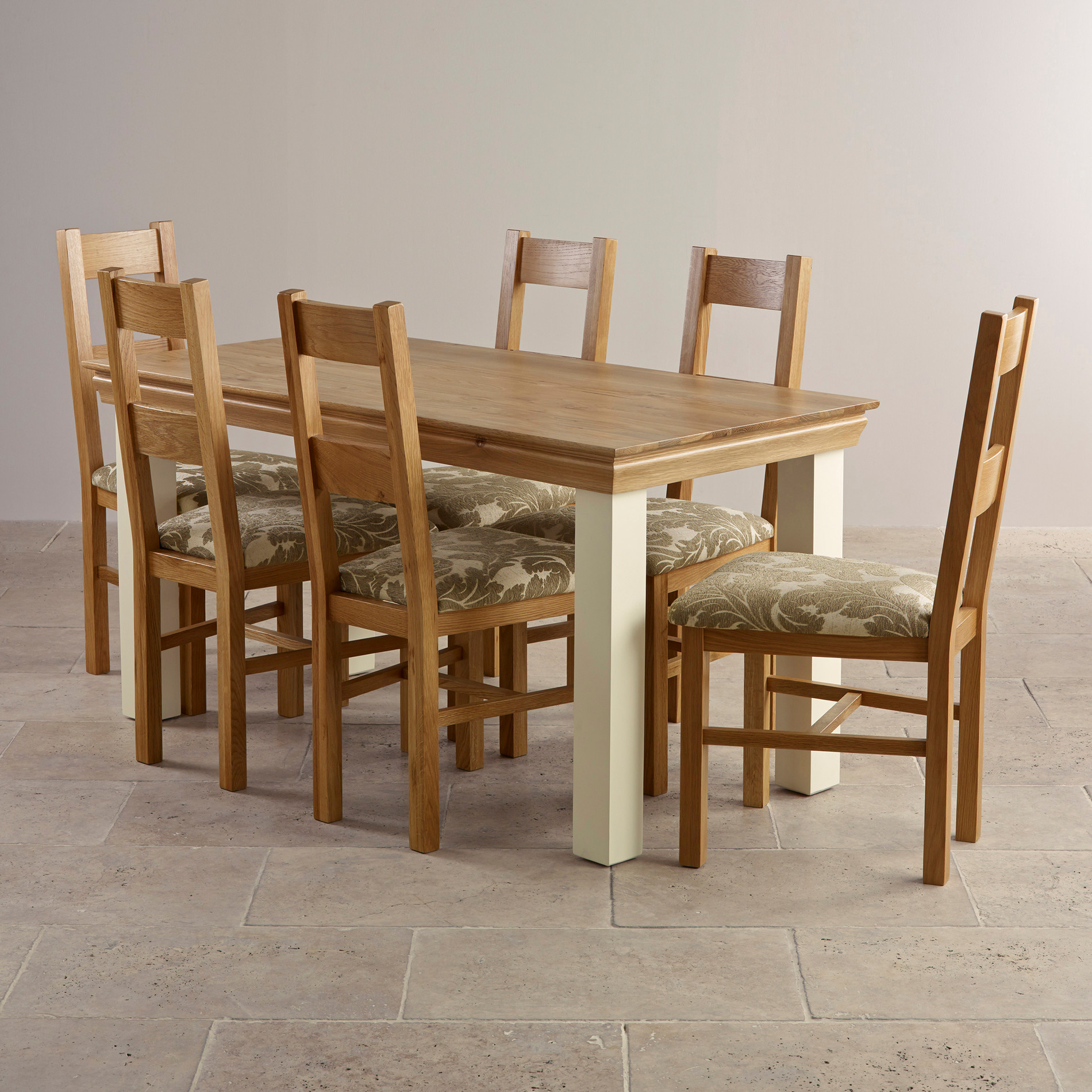 Country Cottage Dining Set In Painted Oak Dining Table 6