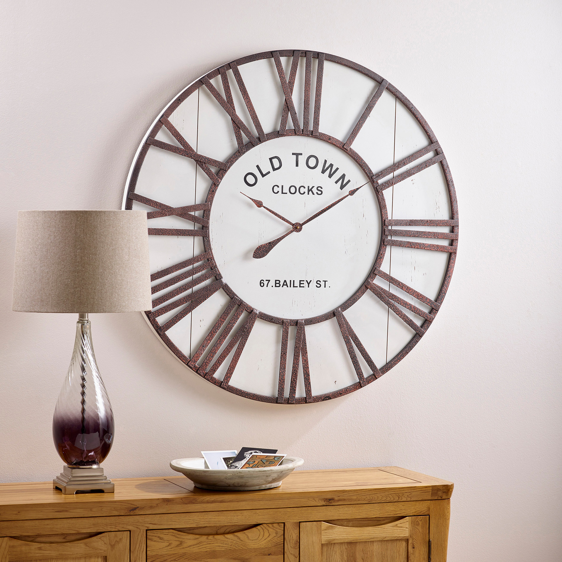 Dayton Wall Clock By Oak Furniture Land