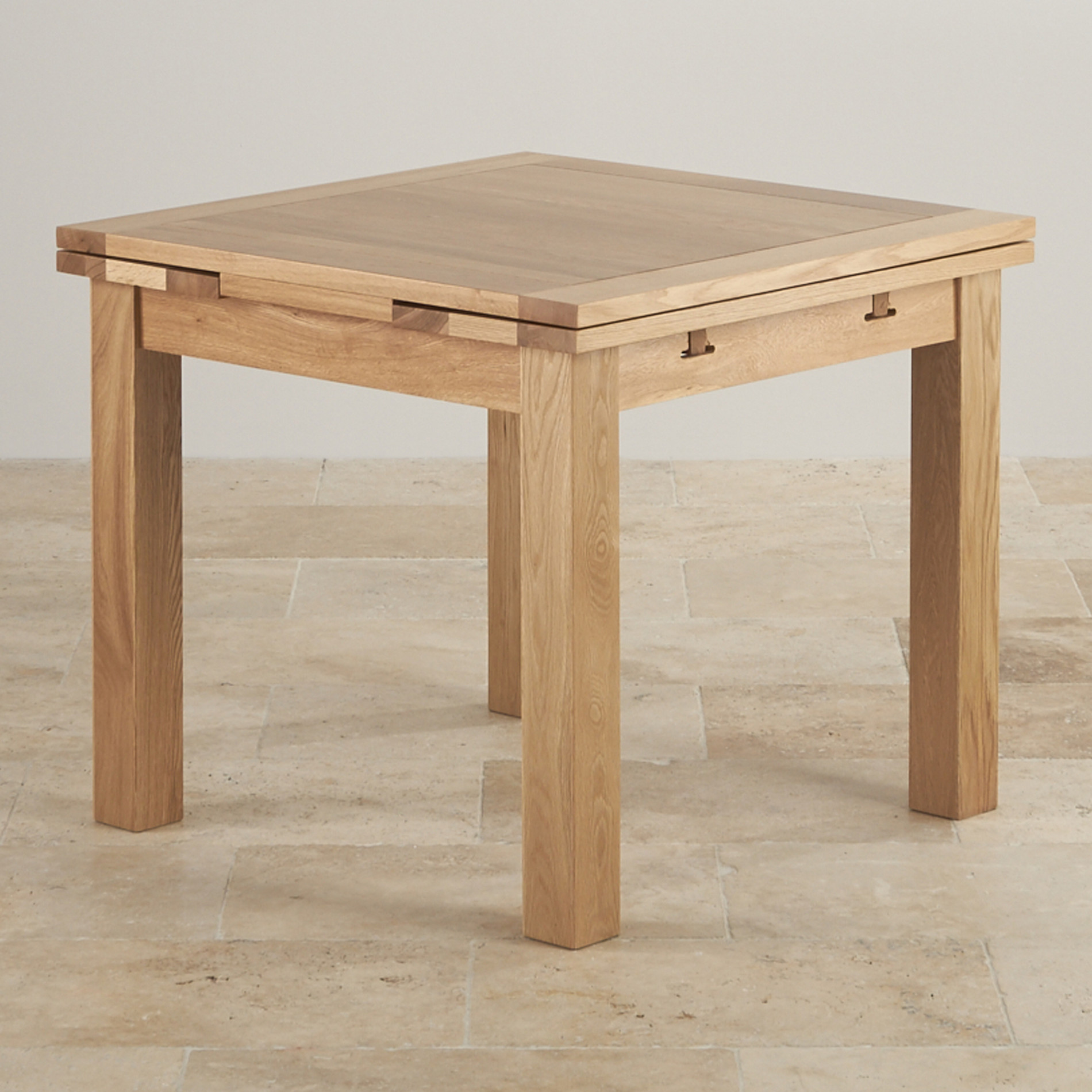 Dorset 3ft X 3ft Natural Oak Extending Dining Table Seats