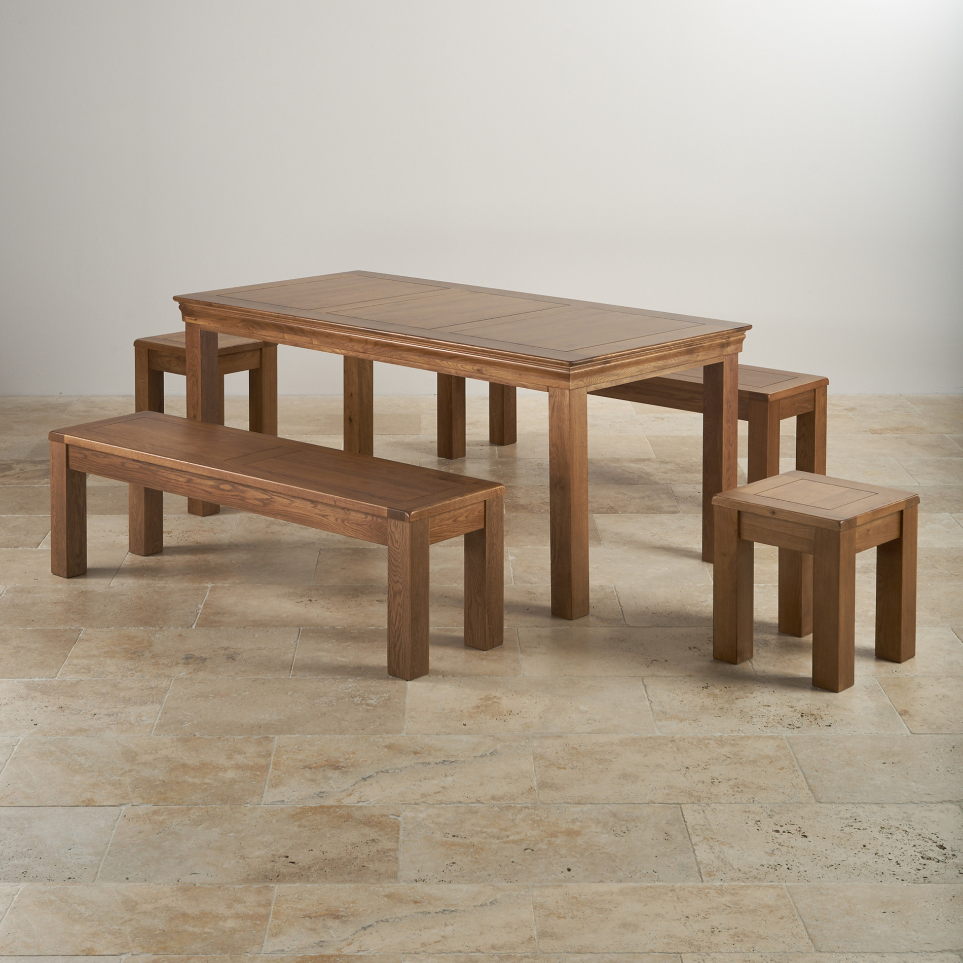 French Oak Dining Set