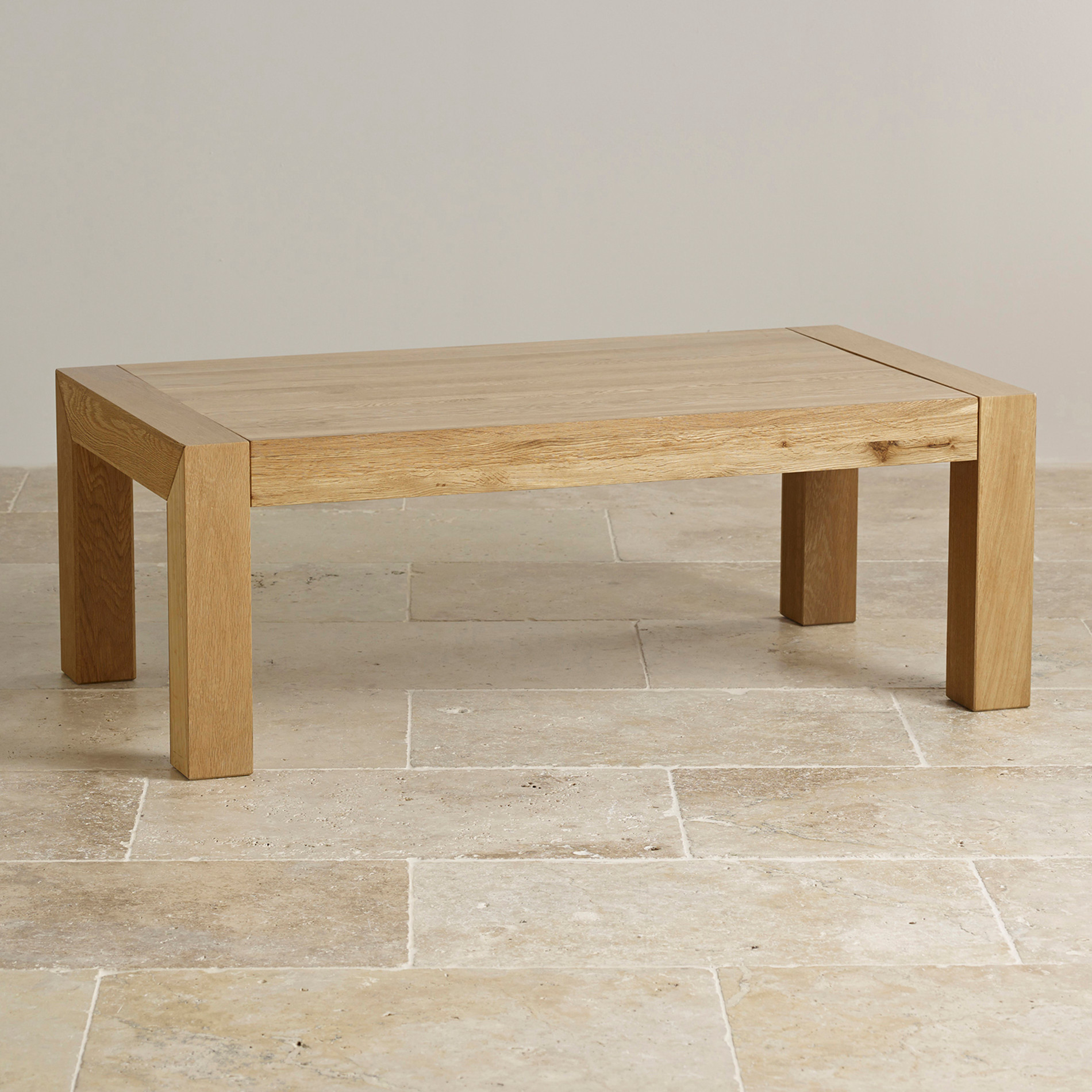 Fresco Natural Solid Oak Coffee Table By Oak Furniture Land