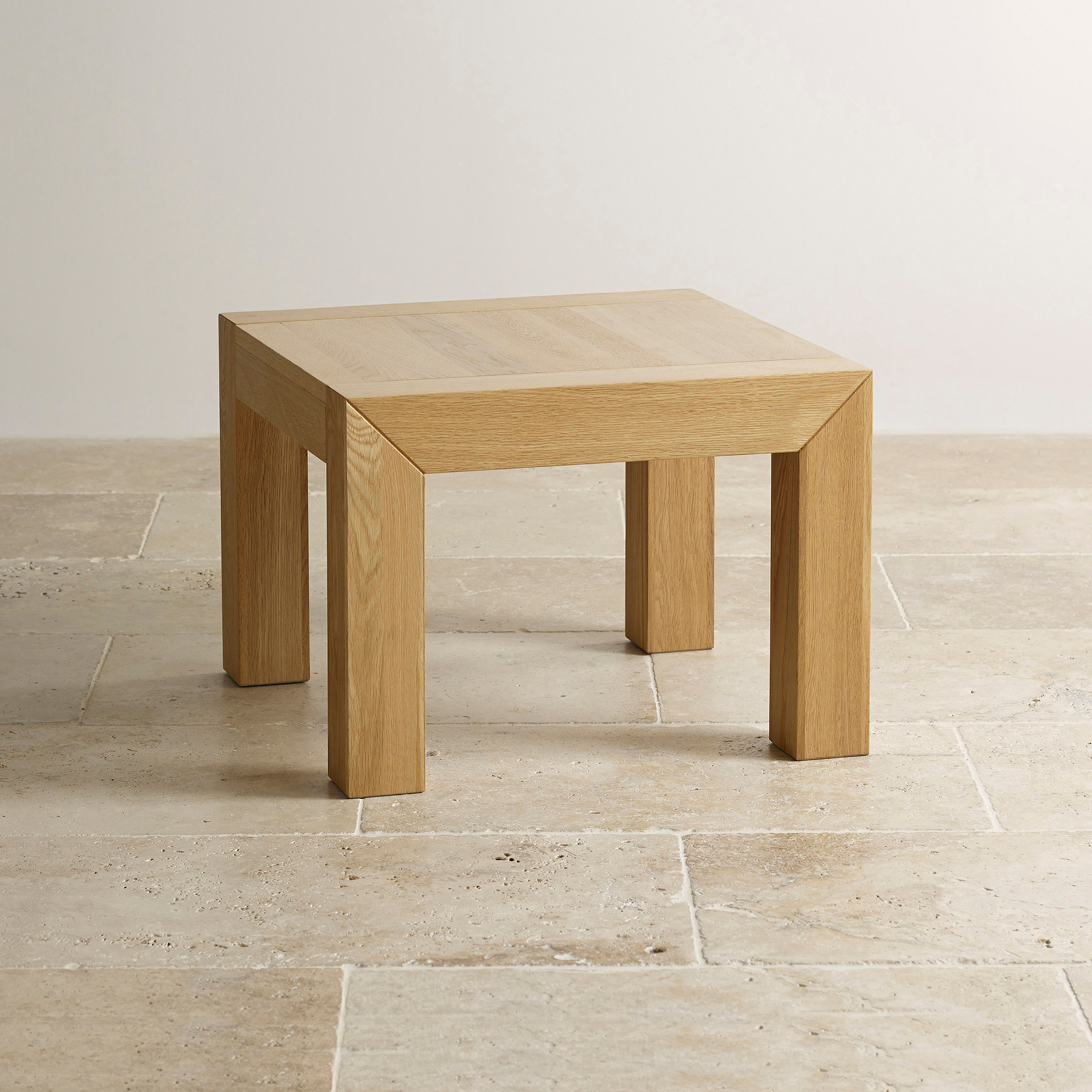 Fresco Natural Solid Oak Side Table