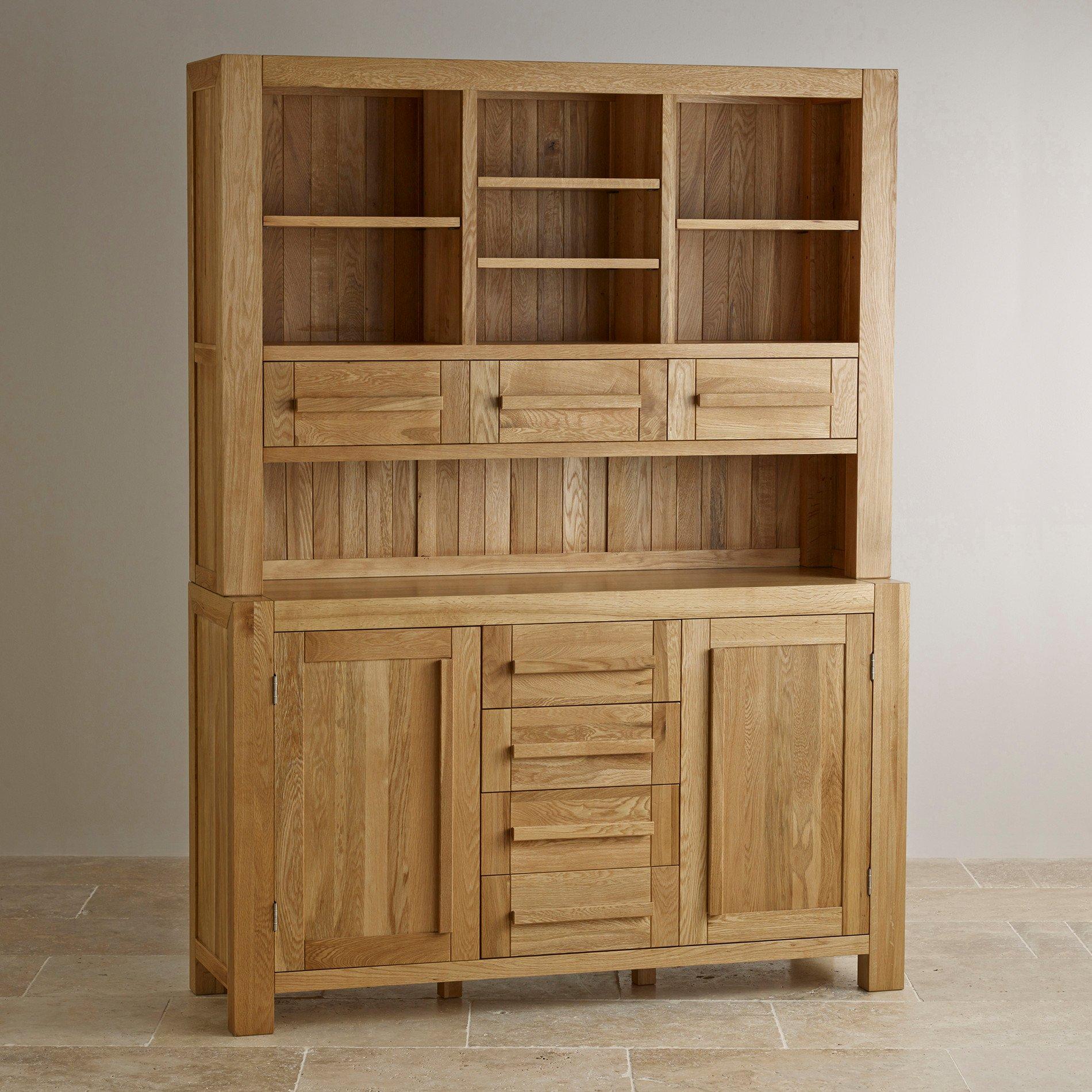 Fresco Natural Solid Oak Welsh Dresser