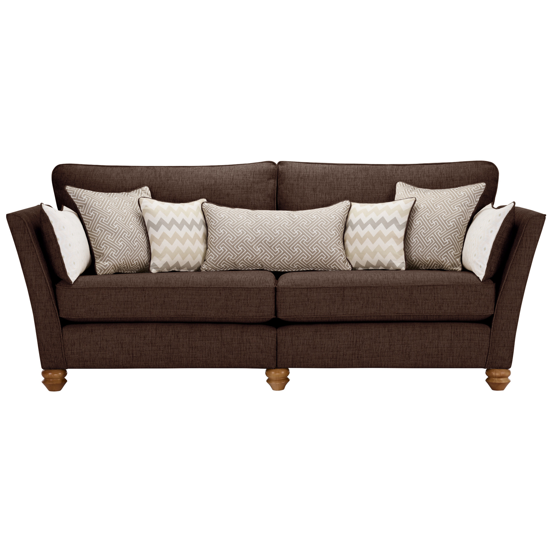 Gainsborough 4 seater sofa in brown oak furniture land for Sofa bed 5ft