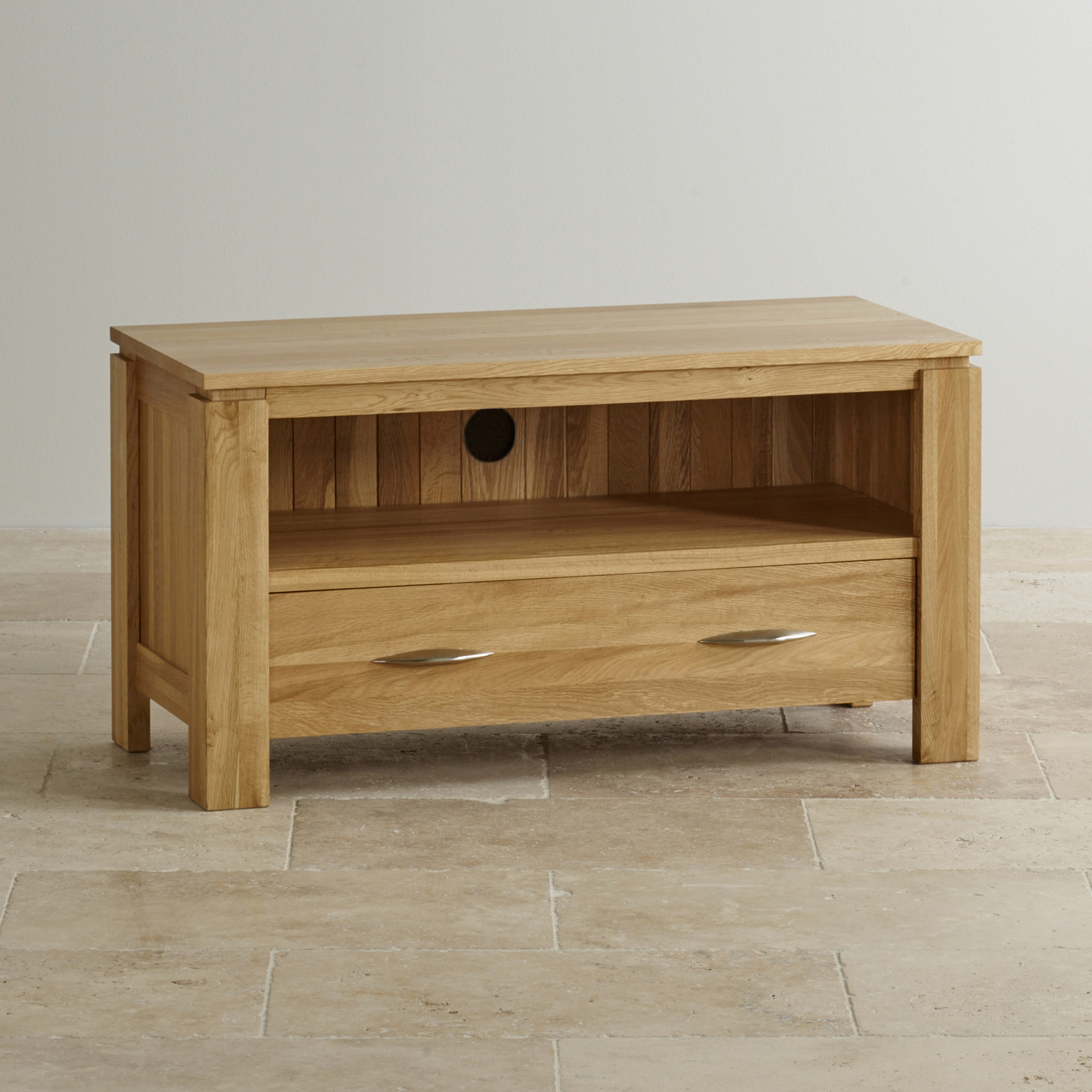 Galway Natural Solid Oak Tv Dvd Stand Living Room