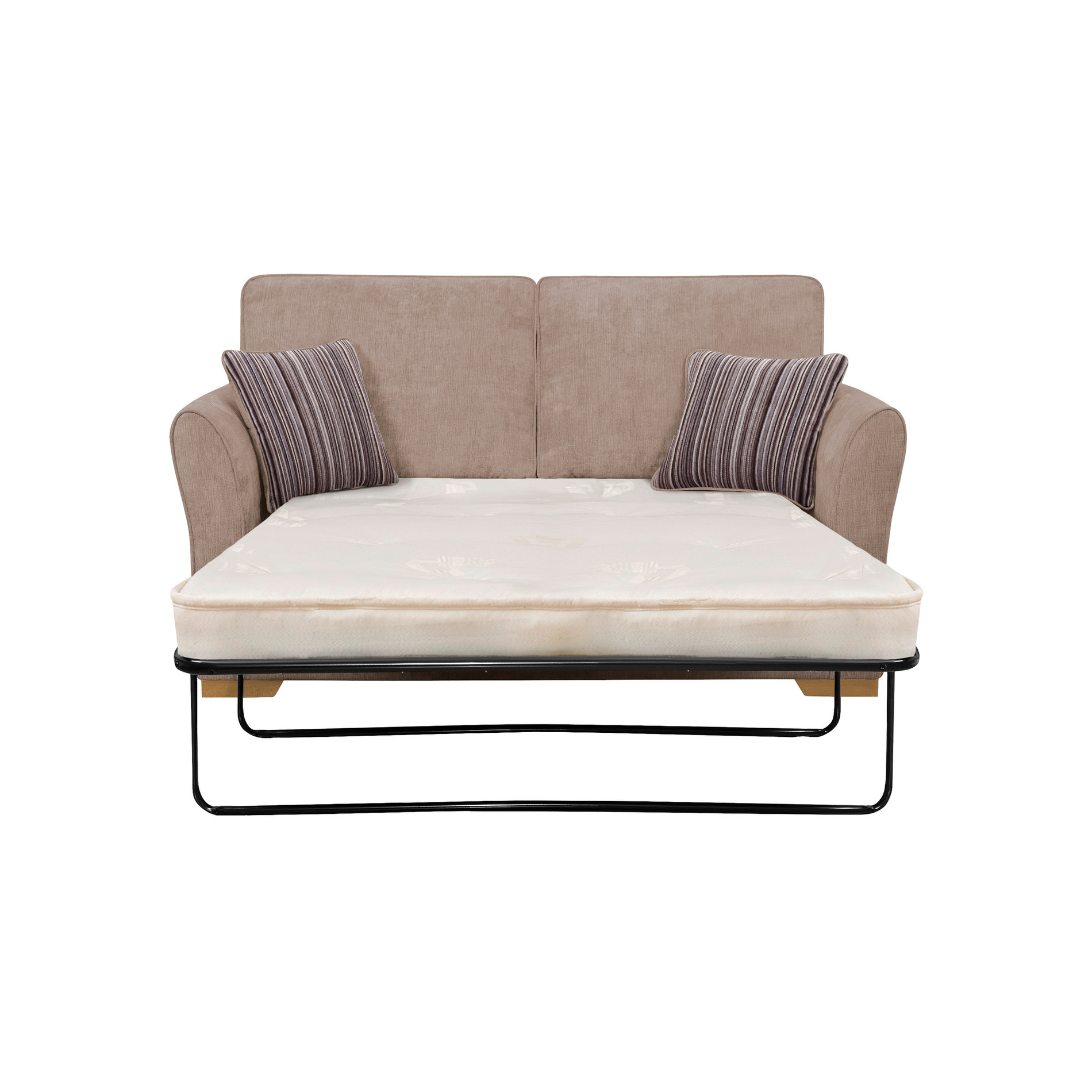 Jasmine 2 seater sofa bed with deluxe mattress in taupe for Sofa bed 5ft