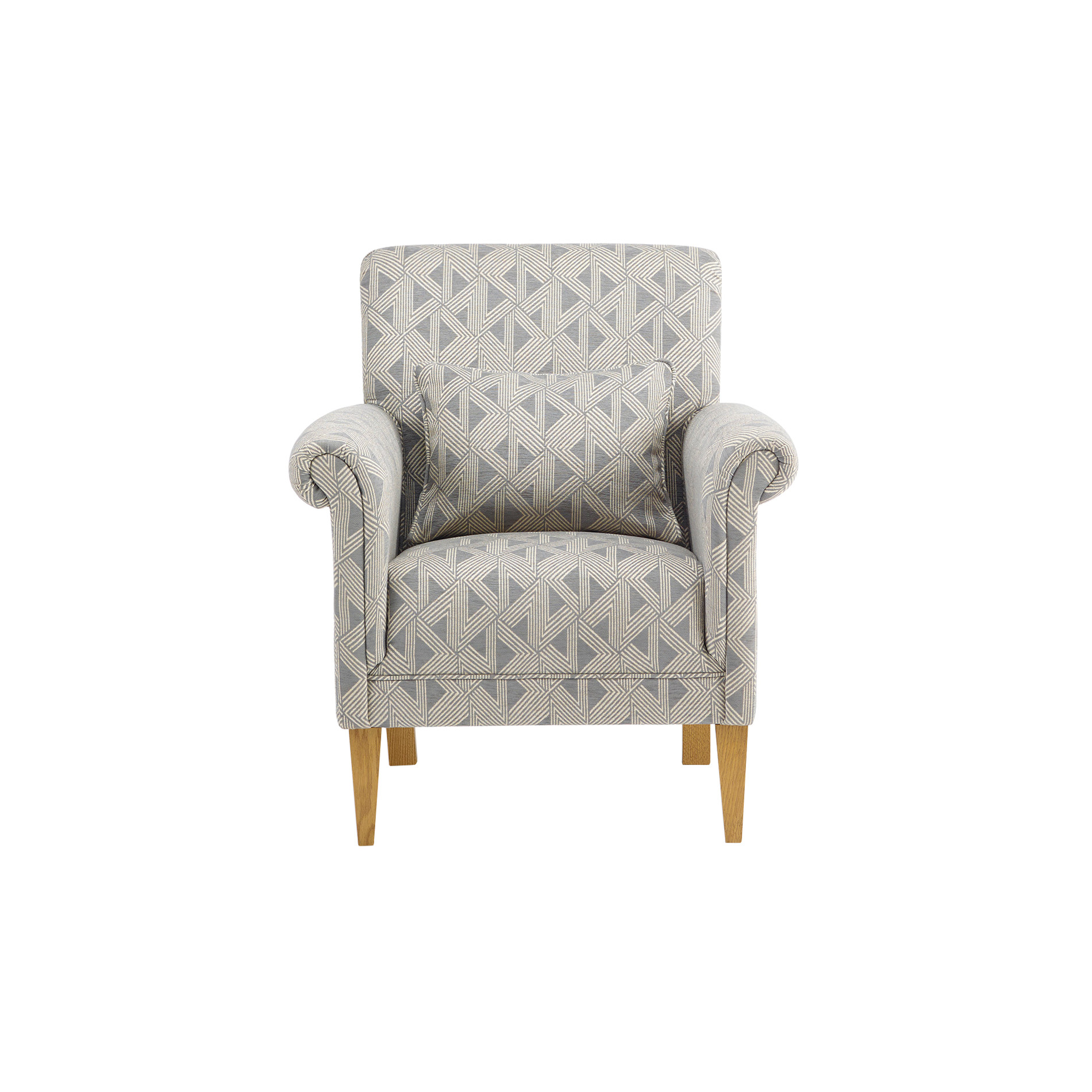 Jasmine Accent Chair in Cosmo Pewter with Bamboo Slate Fabric | Oak Furniture Land  sc 1 st  Oak Furniture Land & Jasmine Accent Chair in Cosmo Pewter with Bamboo Slate Fabric | Oak ...