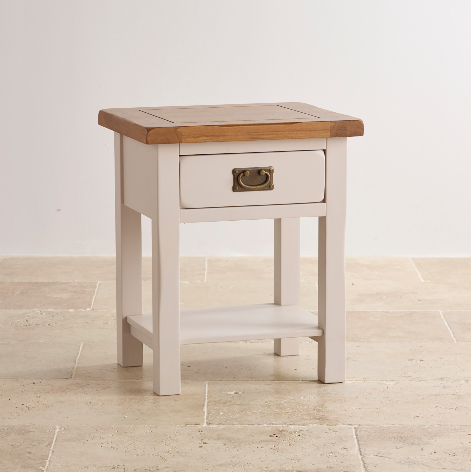 Kemble painted lamp table in solid oak oak furniture land aloadofball Image collections