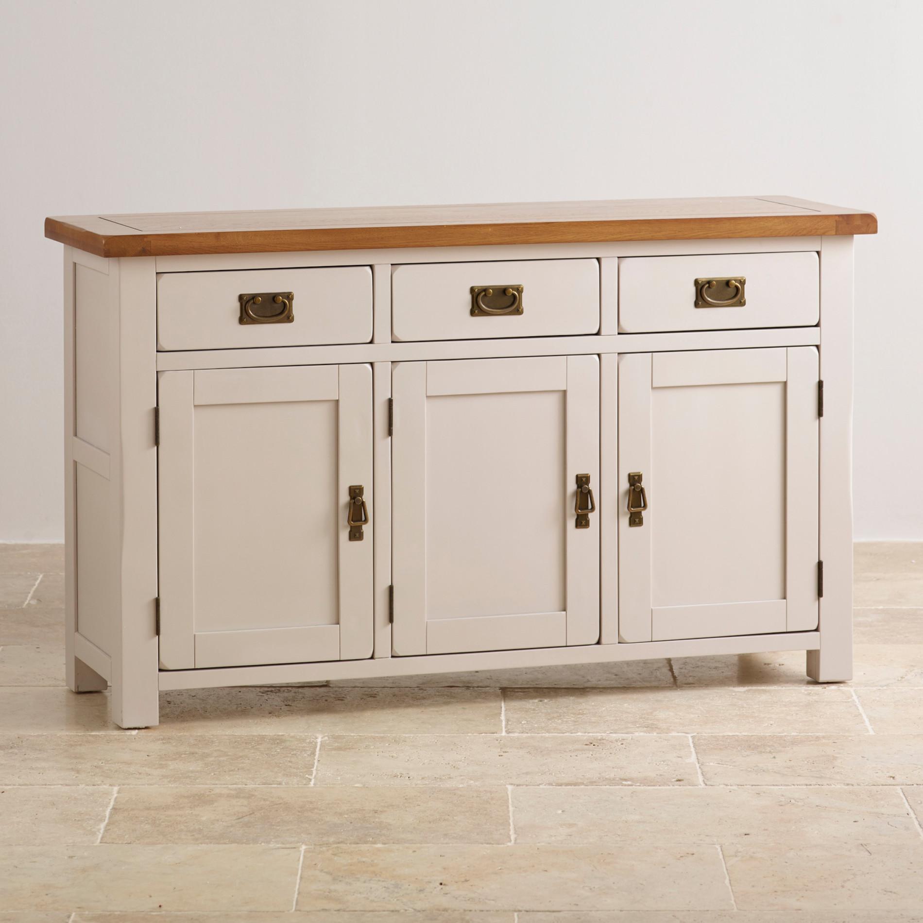 elegant painted hardwood large sideboard. Black Bedroom Furniture Sets. Home Design Ideas