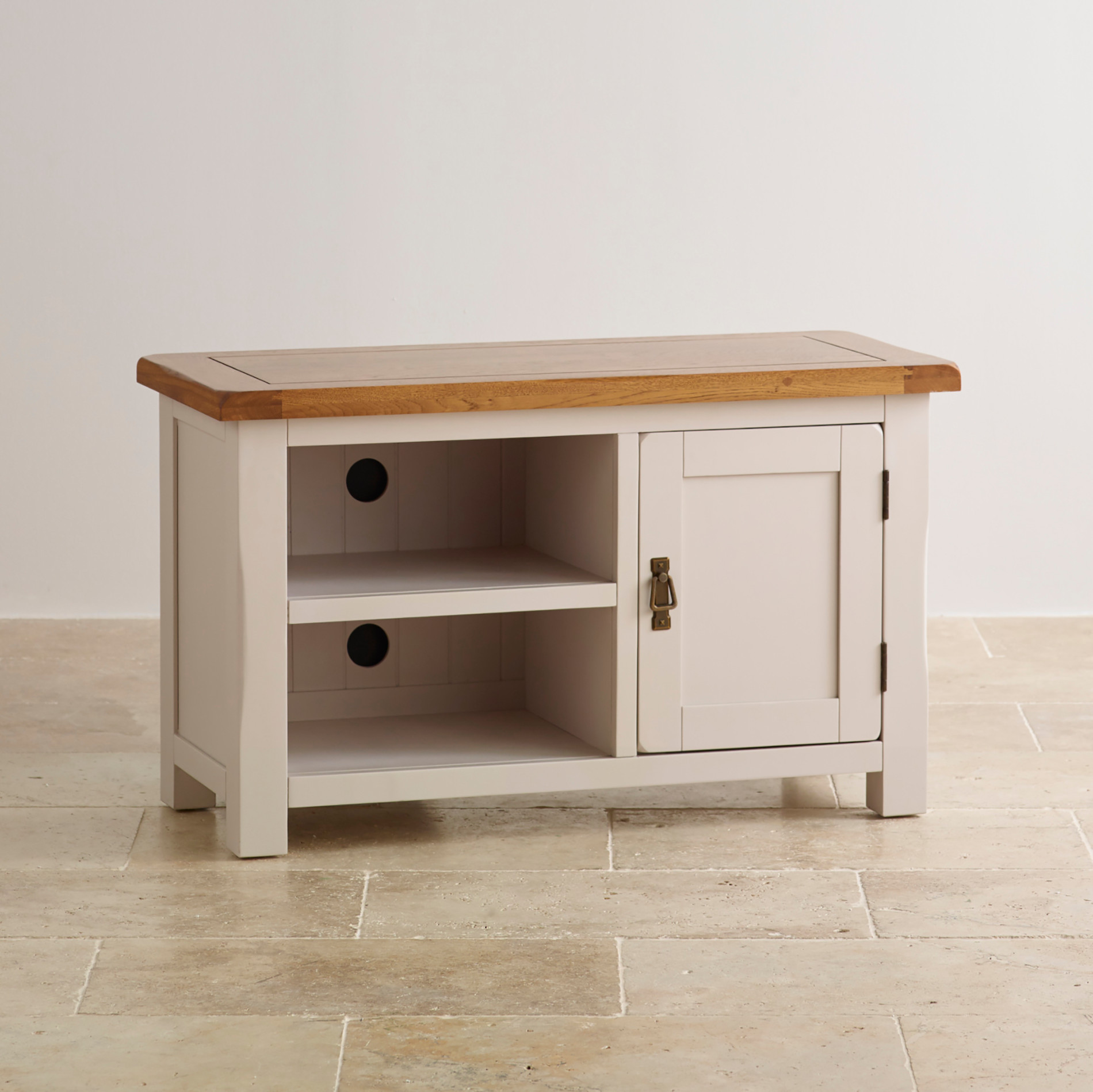 Kemble TV Cabinet in Painted Solid Oak | Oak Furniture Land