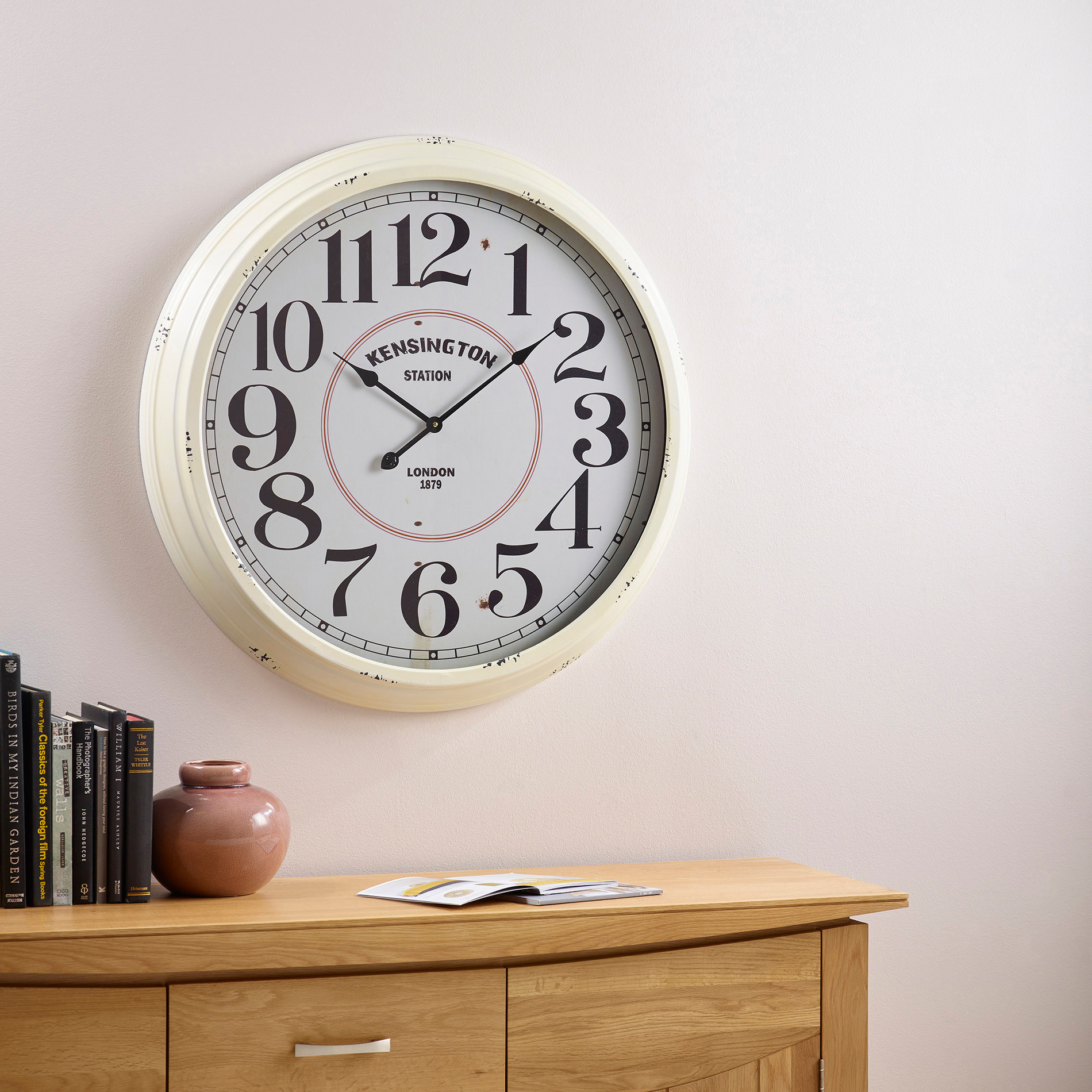 Lucia wall clock by oak furniture land amipublicfo Gallery