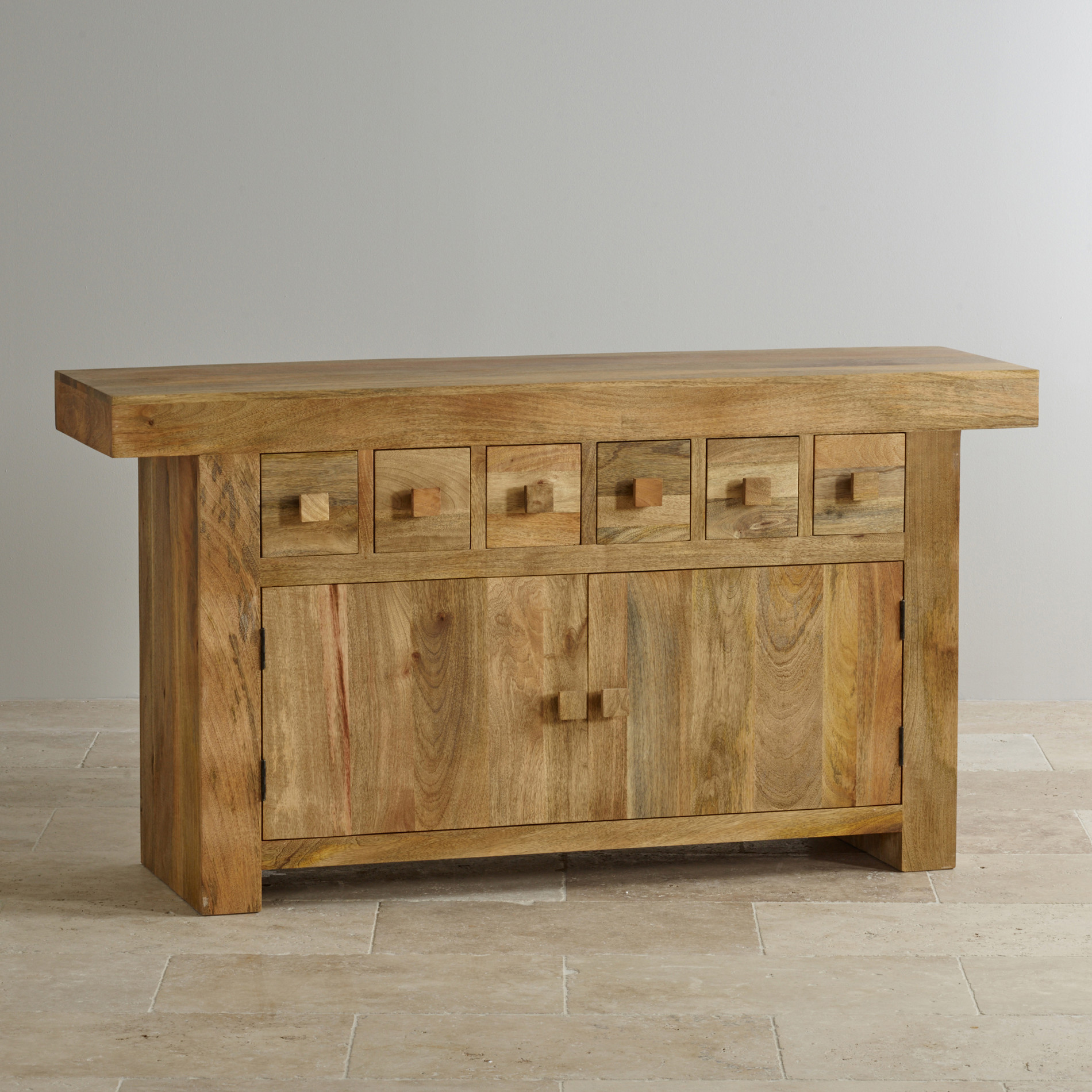 Mantis light large sideboard in natural solid mango for Hardwood furniture