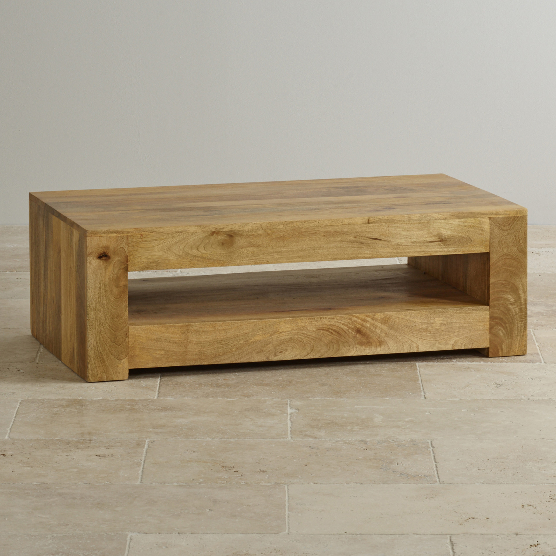 Mantis Light Coffee Table in Solid Mango