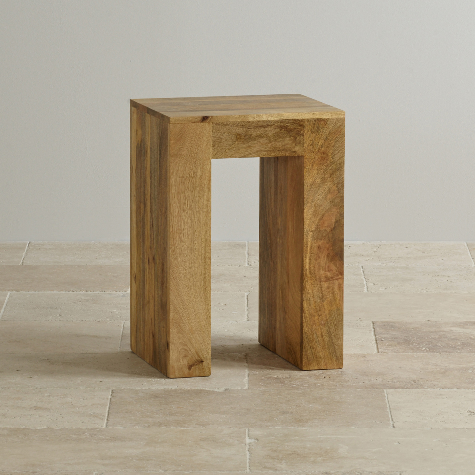Mantis Light Natural Solid Mango Lamp Table by Oak Furniture Land