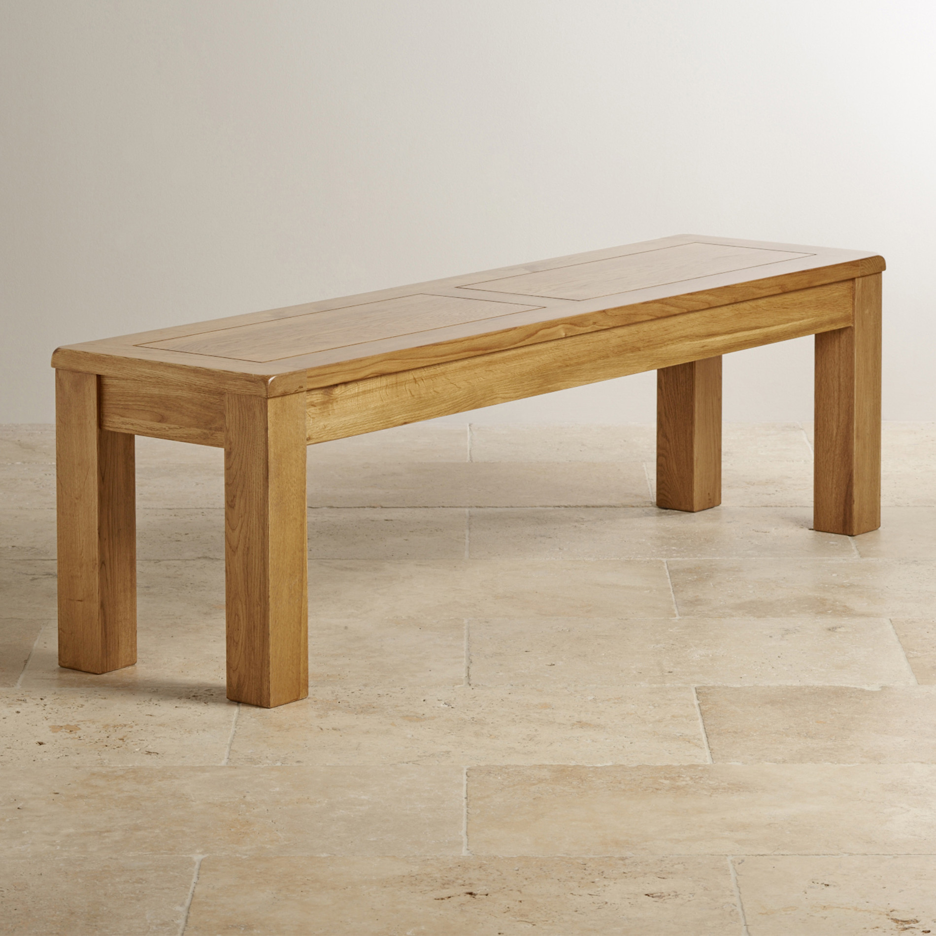 Solid Oak Large Bench Oak Furniture Land