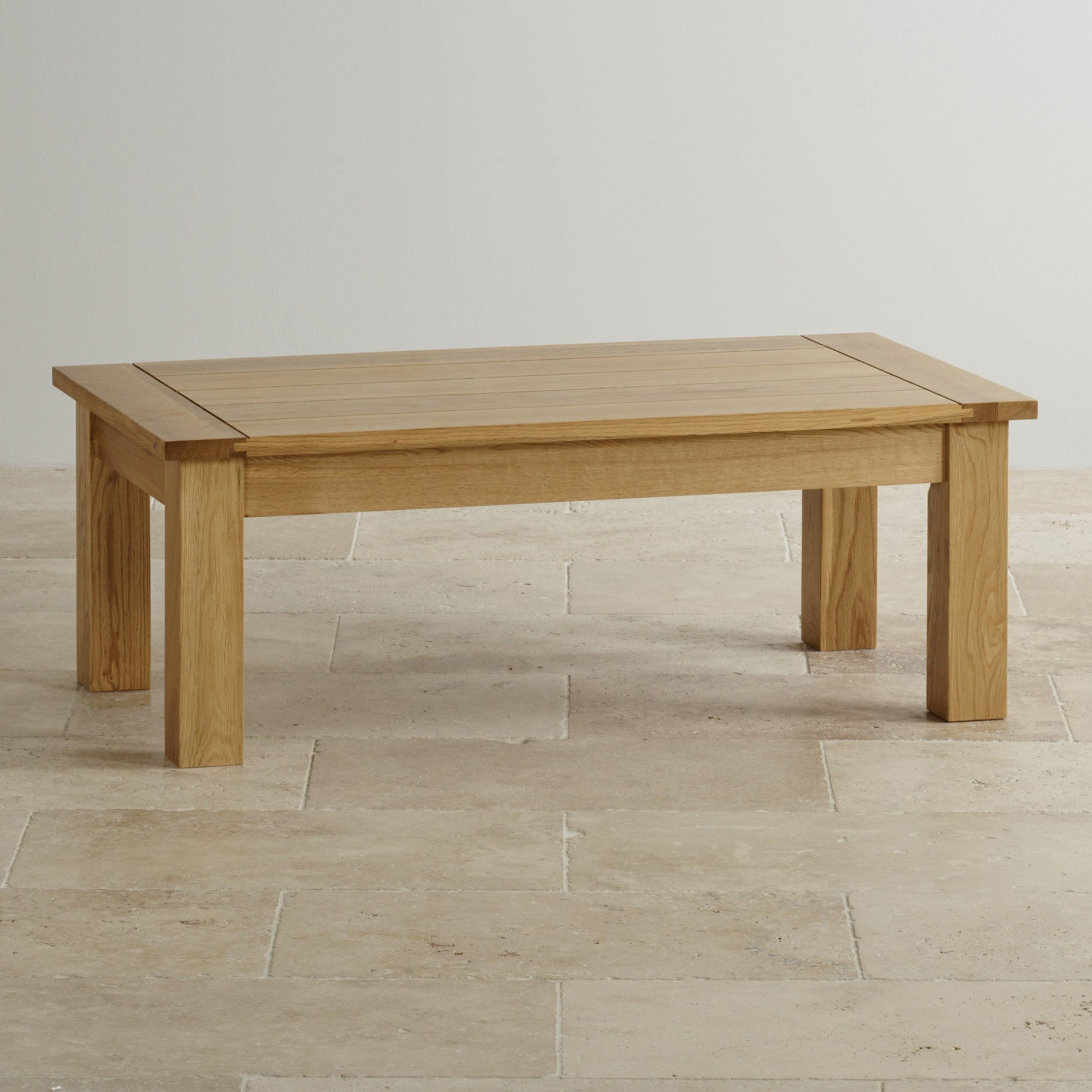 Black Oak Round Coffee Table: Contemporary Coffee Table In Solid Oak