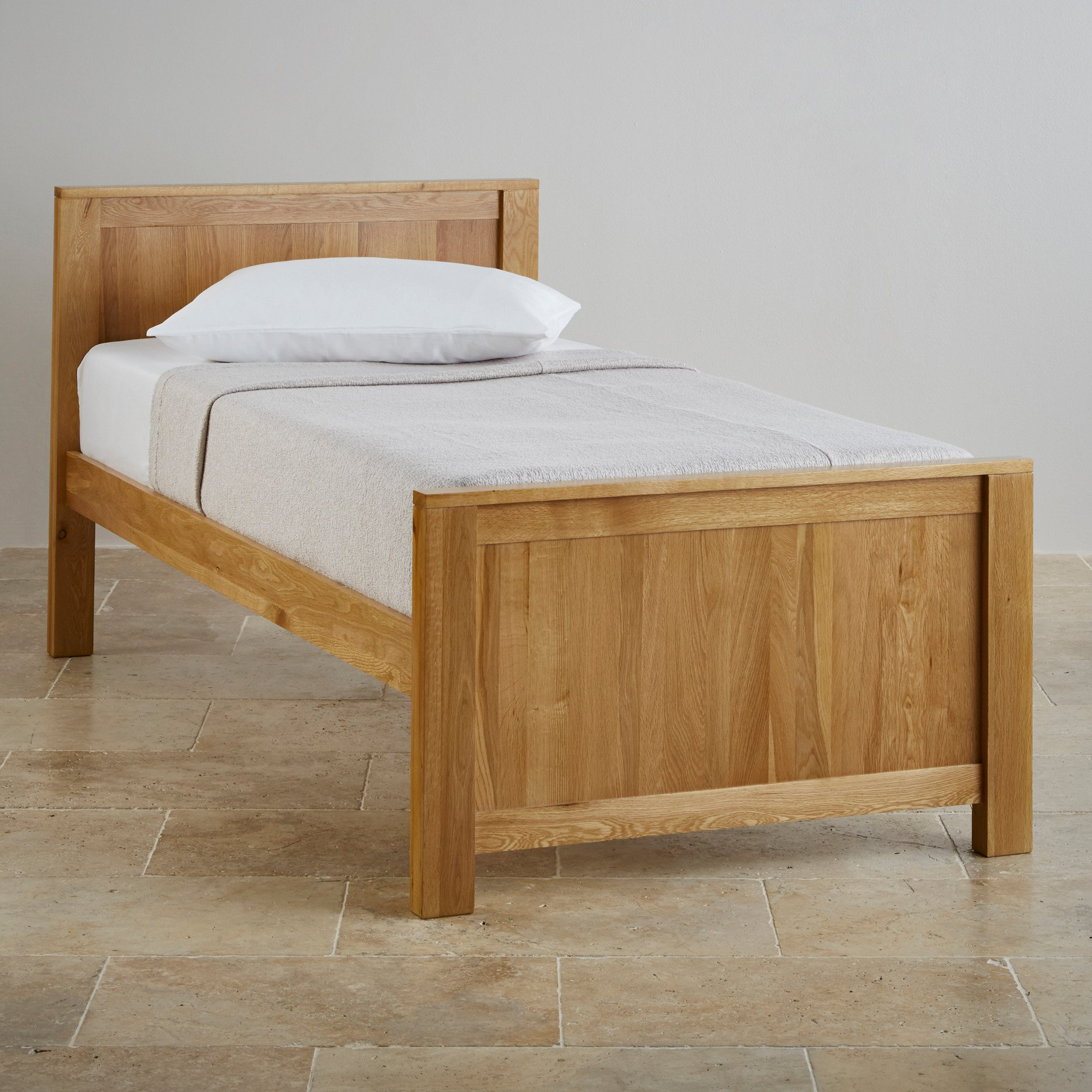 Oakdale Natural Solid Oak Single Bed | Bedroom Furniture