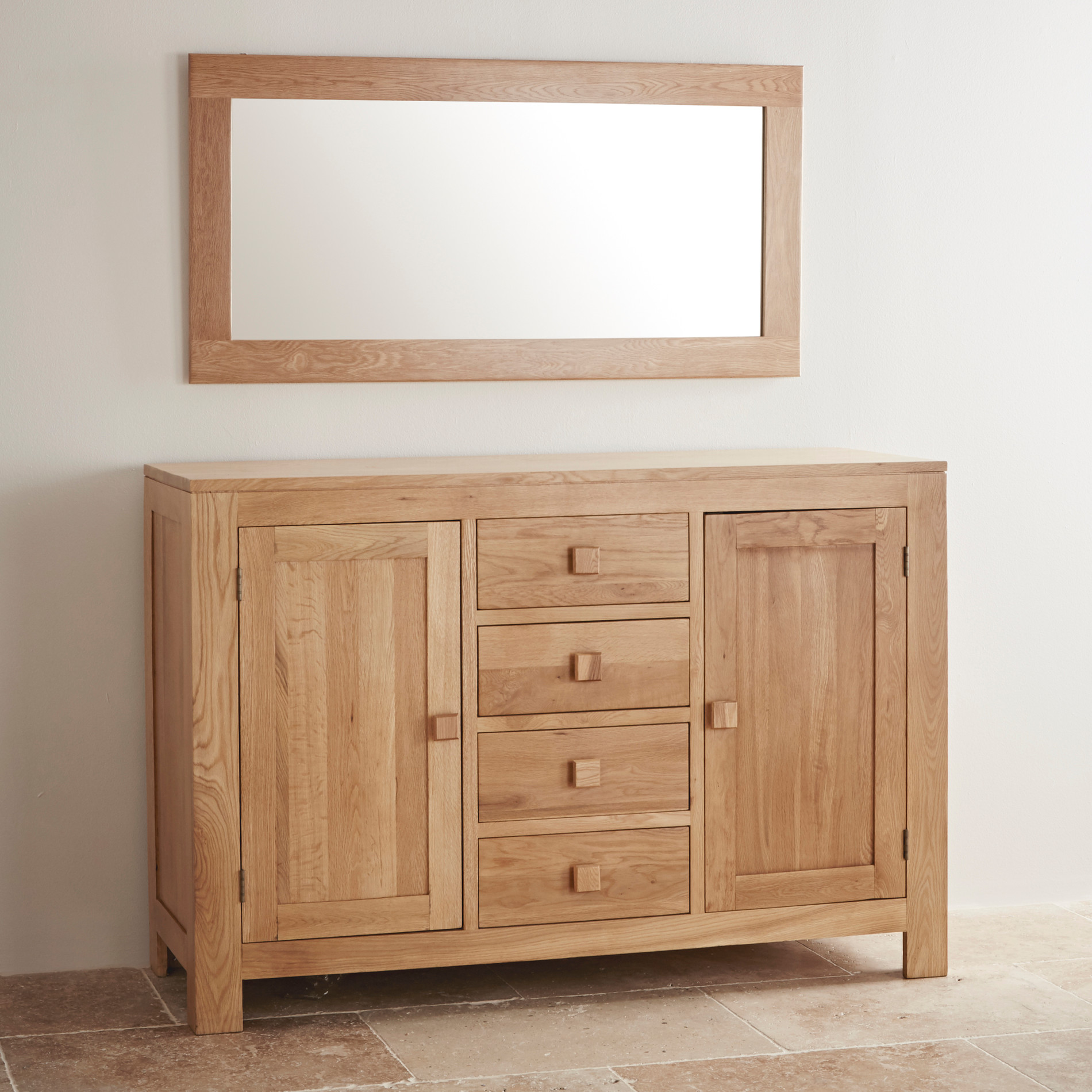 Oakdale natural solid oak wall mirror by oak furniture land express delivery oakdale natural solid oak 1200mm x 600mm wall mirror amipublicfo Choice Image