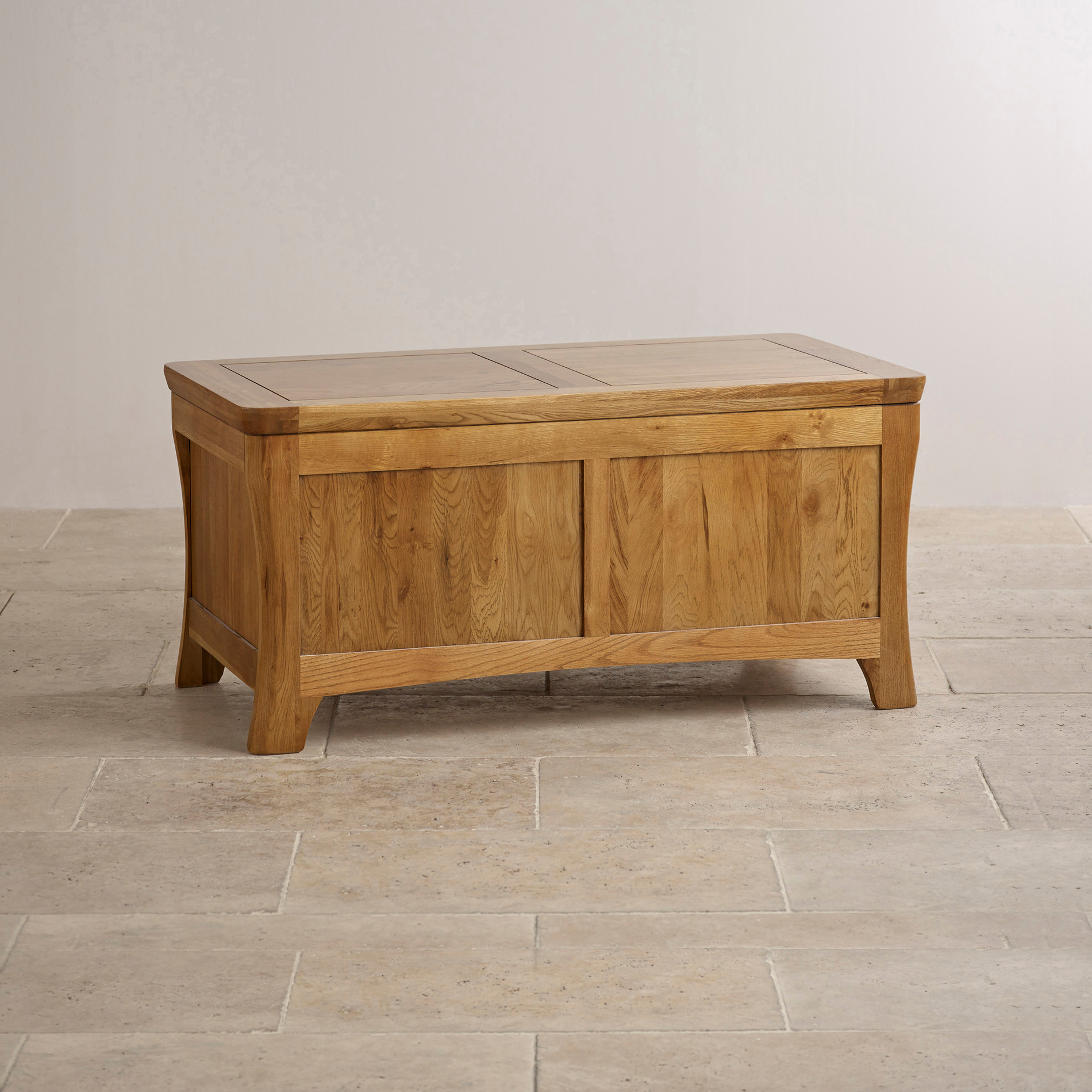 Orrick Blanket Box in Rustic Solid Oak