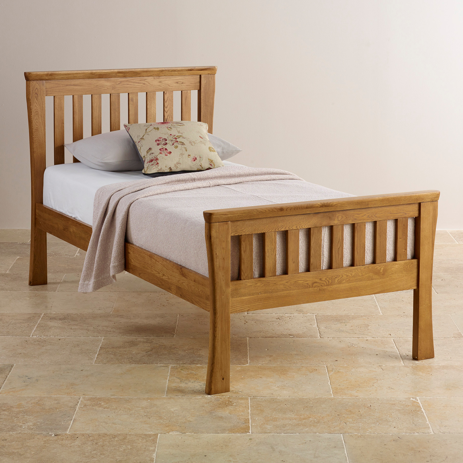Orrick Single Bed Solid Oak Oak Furniture Land