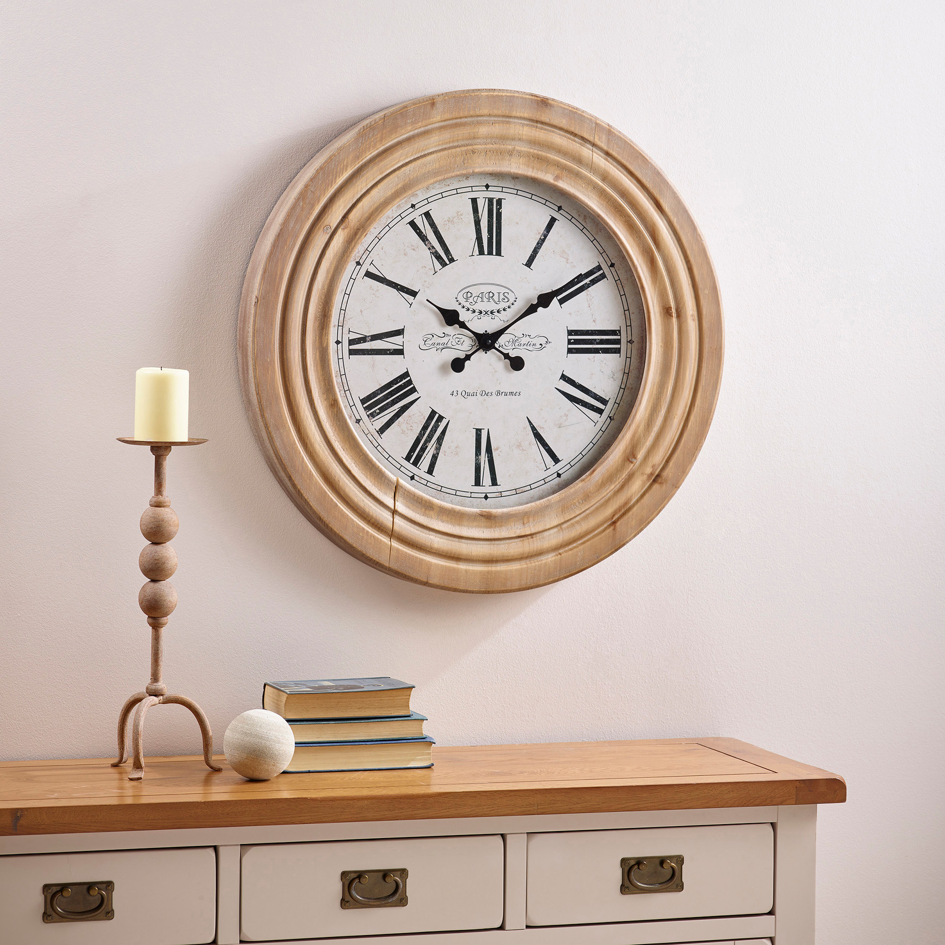 Clocks spend over 1500 and get one free oak furniture land express delivery paris wall clock amipublicfo Gallery