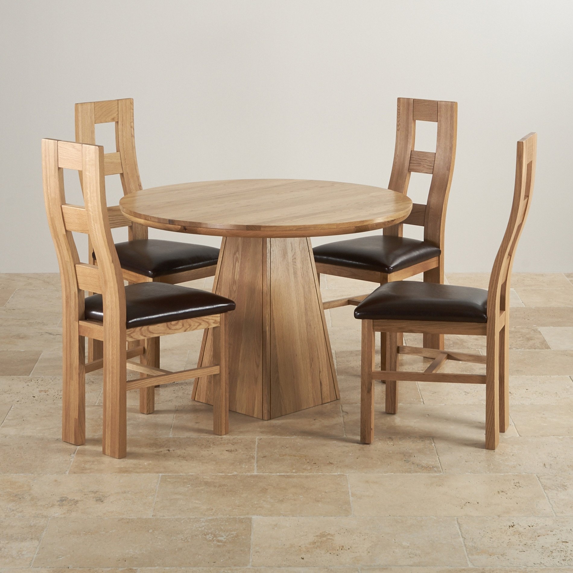 Tremendous Round Oak Kitchen Table And Chairs Home Yard Design Cjindustries Chair Design For Home Cjindustriesco