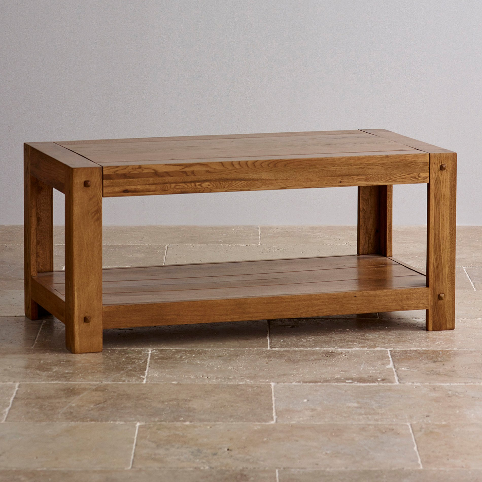Quercus Coffee Table In Rustic Solid Oak