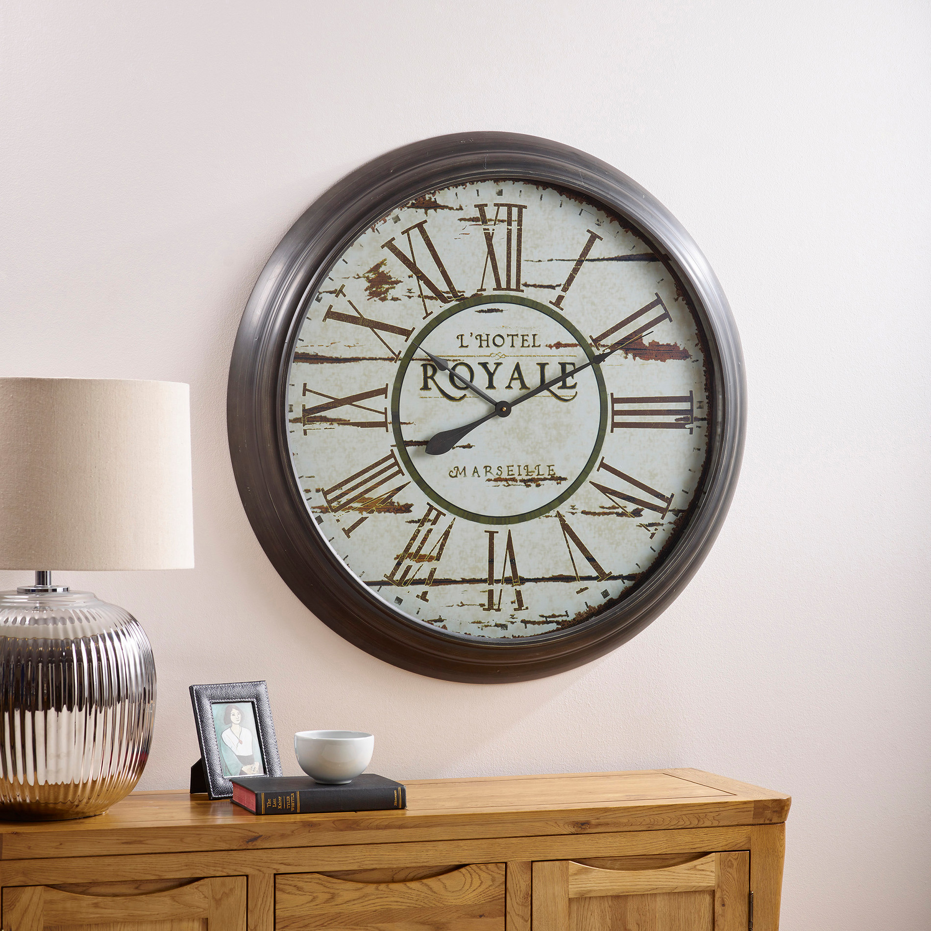 Clocks spend over 1500 and get one free oak furniture land express delivery royale wall clock amipublicfo Gallery