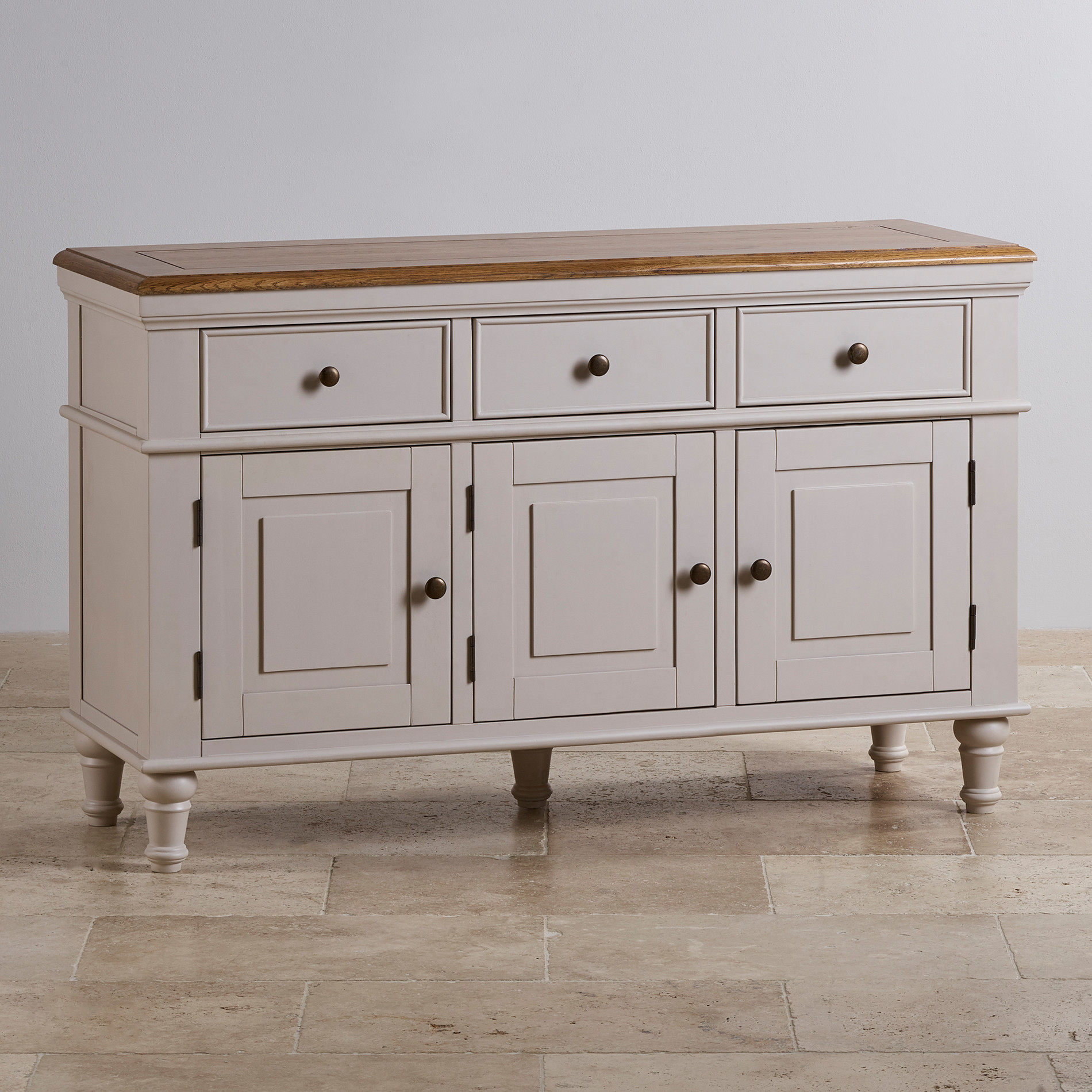 Shay Large Sideboard In Painted Rustic Oak Oak Furniture