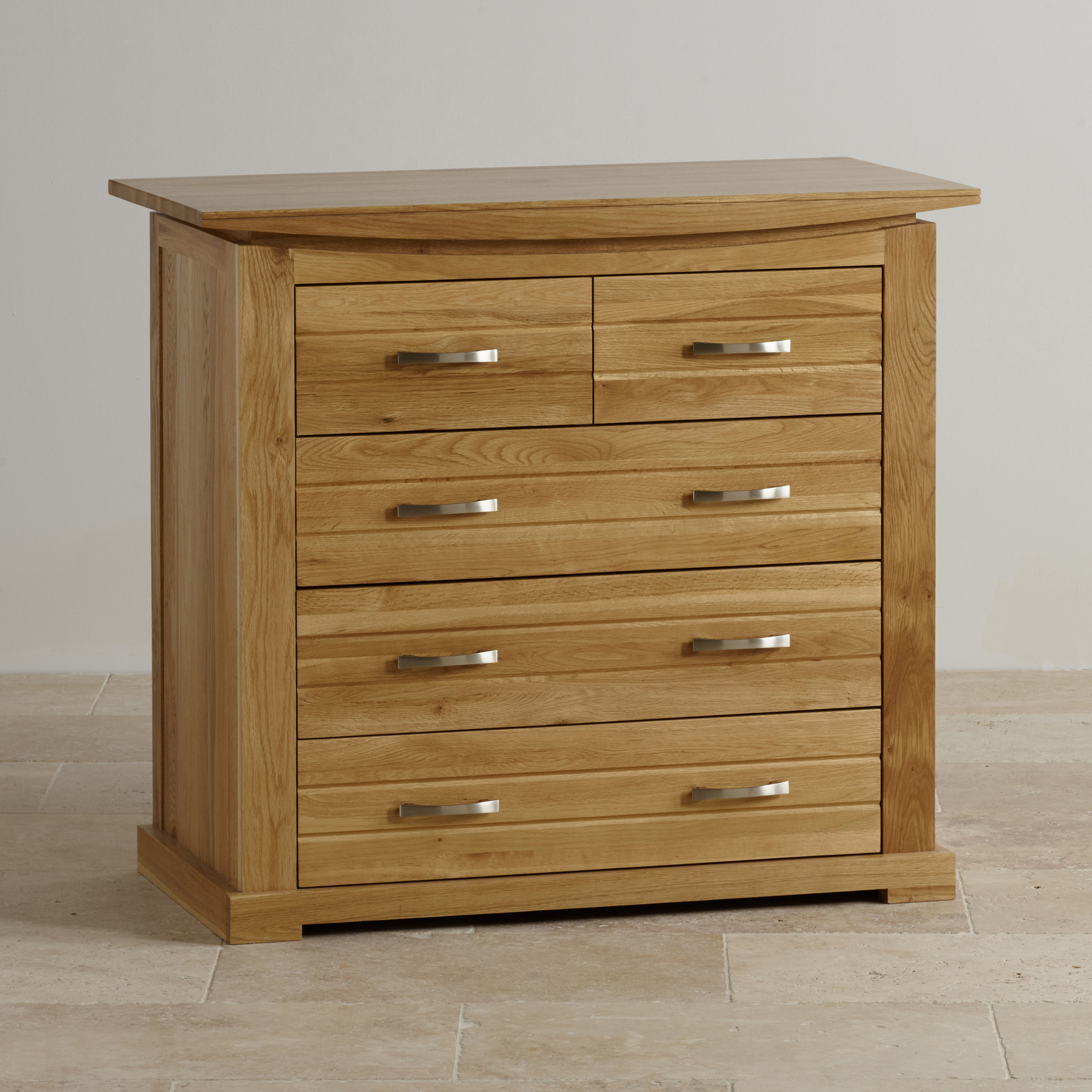 Tokyo Natural Solid Oak 3+2 Chest of Drawers