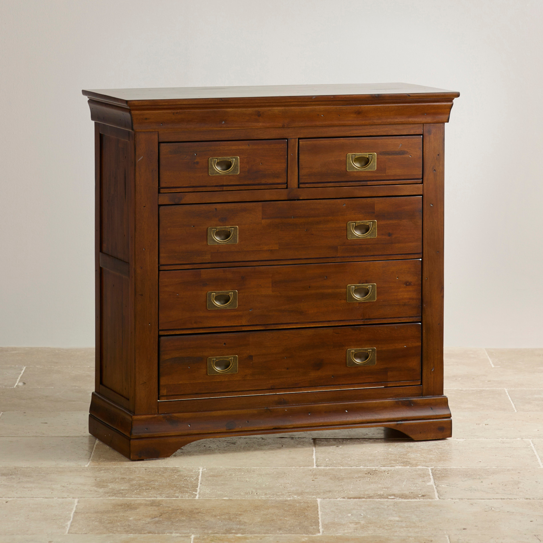 victoria 3 2 chest of drawers in acacia oak furniture land. Black Bedroom Furniture Sets. Home Design Ideas