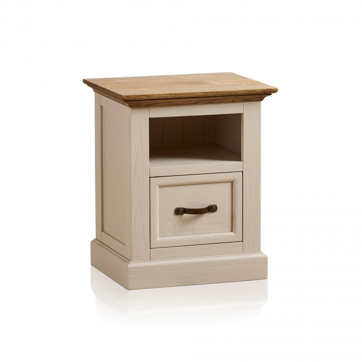 Seychelles Painted and Brushed Solid Oak Bedside Table - Image 9