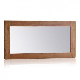 Original Rustic Solid Oak 1200mm x 600mm Wall Mirror