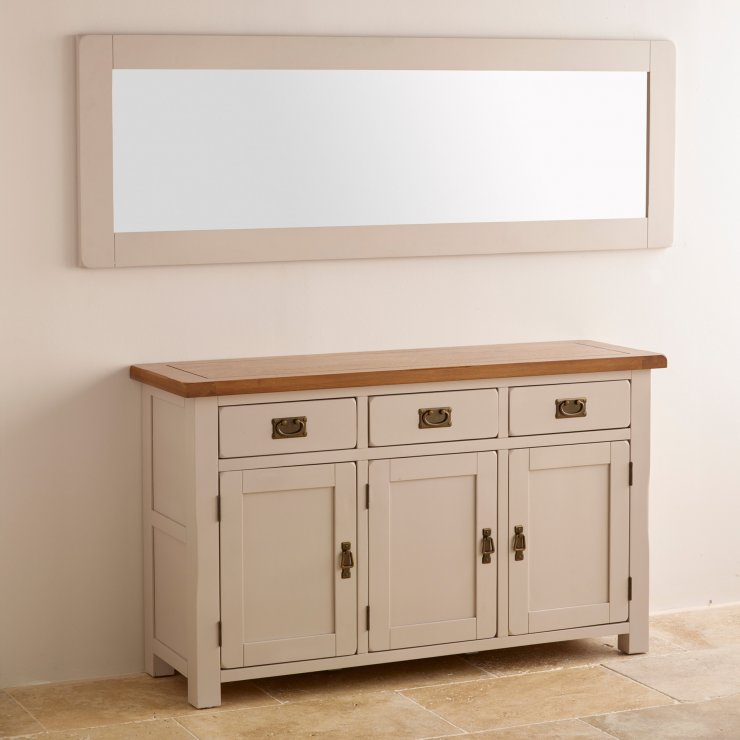 Kemble Rustic Solid Oak and Painted 1800mm x 600mm Wall Mirror