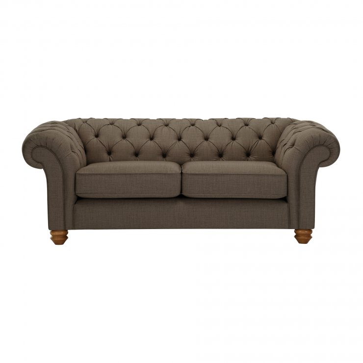 Chesterfield 2 Seater Sofa in Orchid Coffee - Image 1
