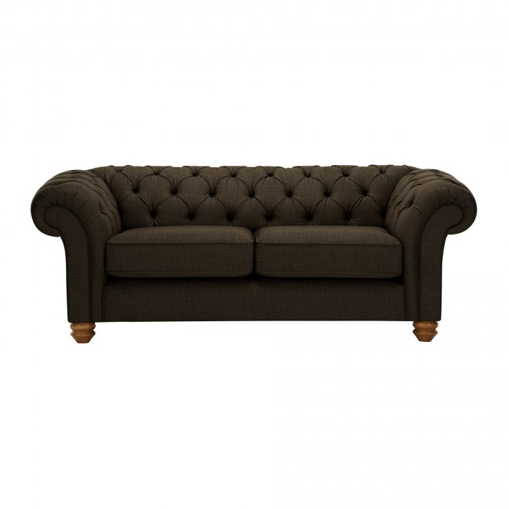Chesterfield 2 Seater Sofa in Orchid Brown - Image 1