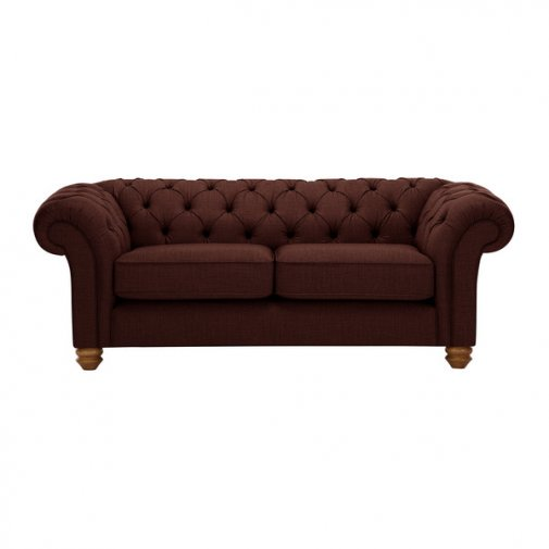 Chesterfield 2 Seater Sofa in Orchid Red