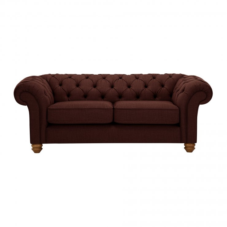 Chesterfield 2 Seater Sofa in Orchid Red - Image 1