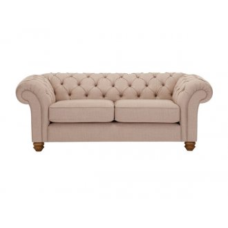 Chesterfield 2 Seater Sofa in Orchid Beige
