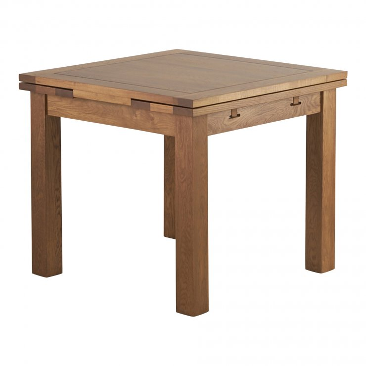 Sherwood Solid Oak 3ft x 3ft Extending Dining Table - Image 3