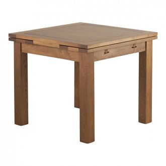 Sherwood Solid Oak 3ft x 3ft Extending Dining Table
