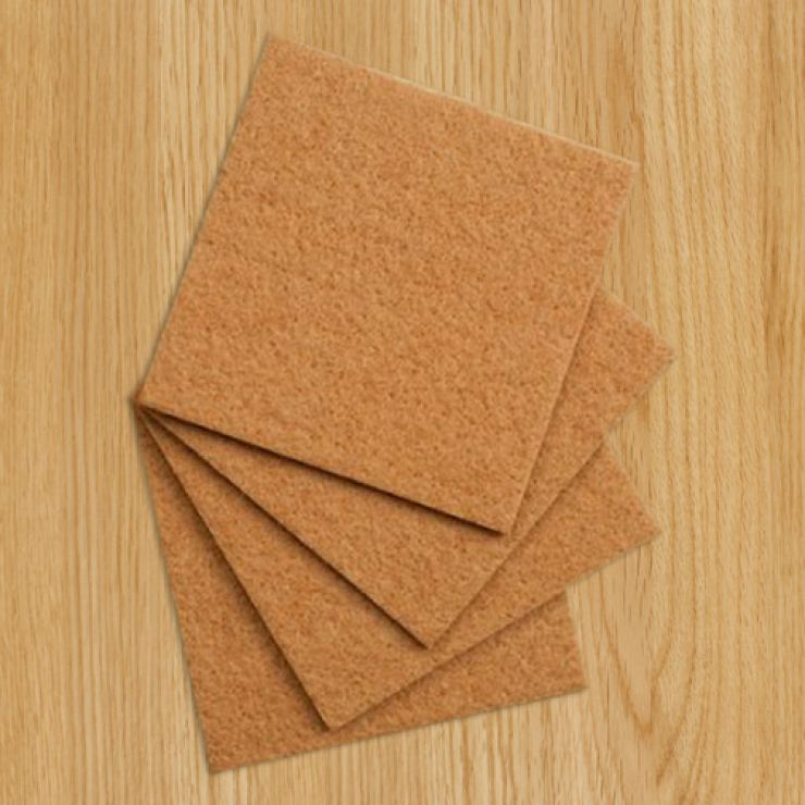 4 Protective Felt Floor Pads Oak Furniture Land