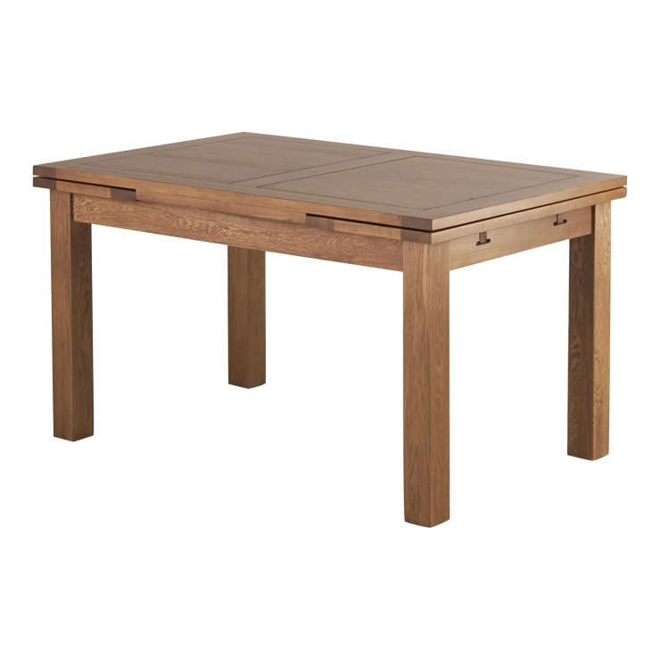 "Sherwood Solid Oak 4ft 7"" x 3ft Extending Dining Table - Image 3"